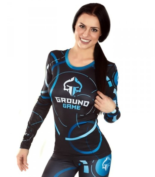 "Rashguard damski Longsleeve Ground Game ""Circle"""