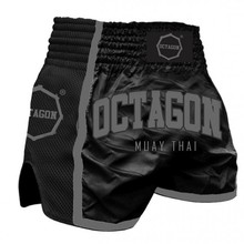 Spodenki Muay Thai Octagon - Black/Grey