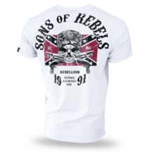 "Koszulka T-shirt Dobermans Aggressive ""Sons of Rebels TS196"" - biała"