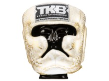 "KASK BOKSERSKI SPARINGOWY TOP KING TKHGSS-02WH_GD ""SUPER STAR SNAKE"" (white/gold) ""K"""