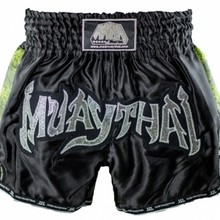 "Spodenki Tajskie MAD MUAY THAI  ""SNAKE"" MDR-008 (black/green_snake) ""K"""