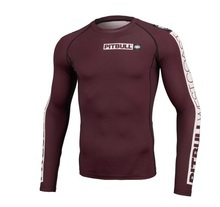 "Rashguard PIT BULL ""Hilltop"" long sleeve - bordowy"