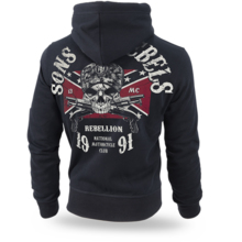 "Bluza z kapturem rozpinana Dobermans Aggressive "" Sons of Rebels BZ196"" - czarna"