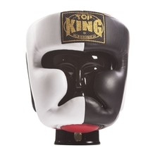 "Kask bokserski sparingowy Top King ""EXTRA COVERAGE"" TKHGEC-LV (123) (black/white/red) ""K"""