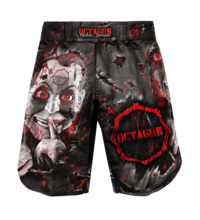 "Spodenki szorty Octagon ""Be Quiet Or Be Dead"" MMA"