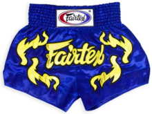 "Spodenki Muay Thai Fairtex BS0664 (blue/gold)  ""K"""