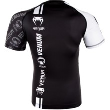 "Rashguard Venum Short sleeve ""Logos"" black/white"