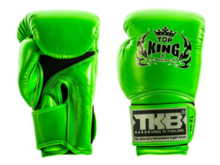"RĘKAWICE BOKSERSKIE TOP KING TKBGSA ""SUPER AIR"" (green neon) ""K"""