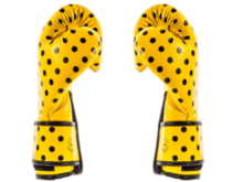 "RĘKAWICE BOKSERSKIE FAIRTEX BGV14YP ""VINTAGE ART - POLKA DOT"" (yellow/black DOT) ""K"""