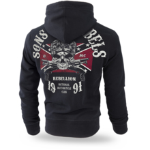 "Bluza z kapturem  Dobermans Aggressive ""Sons of Rebels  BK196"" - czarna"