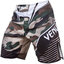 Spodenki szorty treningowe Venum Camo Hero - Green/Brown