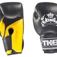 "Rękawice bokserskie Top King TKBGSA ""SUPER AIR"" (522) (black/yellow)  ""K"""