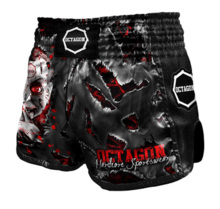 "Spodenki Muay Thai Octagon ""Be Quiet Or Be Dead"""