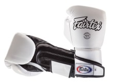 "Rękawice bokserskie FAIRTEX BGV6 (white/black) ""ANGULAR SPARRING"" ""K"""