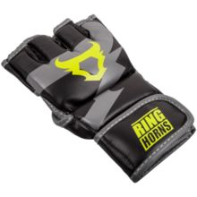 "Rękawice sparingowe MMA Ringhorns ""Charger "" - Black/Neo Yellow"