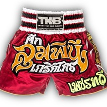 "Spodenki Tajskie TOP KING TKTBS-Lumpinee-Kriekkrai (red) ""K"""