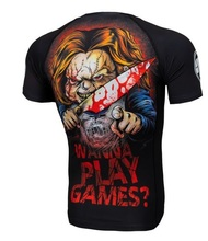 "Rashguard PIT BULL short sleeve ""Wanna Play Games?"""