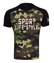 "Rashguard short sleeve Danger Wear ""Sport Army"""