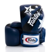 "RĘKAWICE BOKSERSKIE FAIRTEX BGV1-N (blue/white/black) ""Nation Print"""