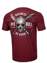 "Koszulka PIT BULL ""Business As Usual"" - burgundy"