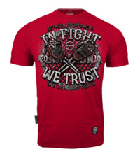 "Koszulka T-shirt Octagon ""In Fight We Trust bloody "" - czerwona"