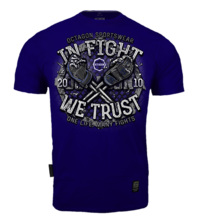 "Koszulka T-shirt Octagon ""In Fight We Trust "" - granatowa"