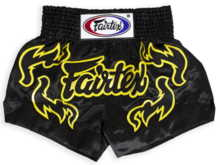 Spodenki Muay Thai Fairtex BS0666 (black/gold)