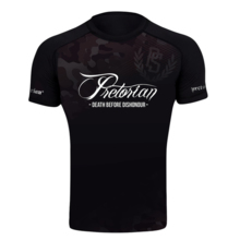 "Rashguard short sleeve Pretorian ""Death Before Dishonour"""