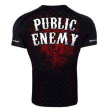 "Rashguard short sleeve Pretorian ""Public Enemy"""