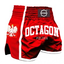 "Spodenki Muay Thai Octagon ""Poland"" - red"